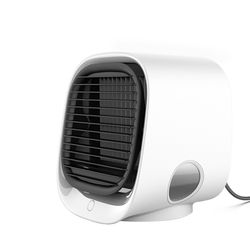 OEM factoray Private label Purifier Air Cooler Fan Mini Desktop Air Conditioner Night Light Mini USB Water Cooling Fan