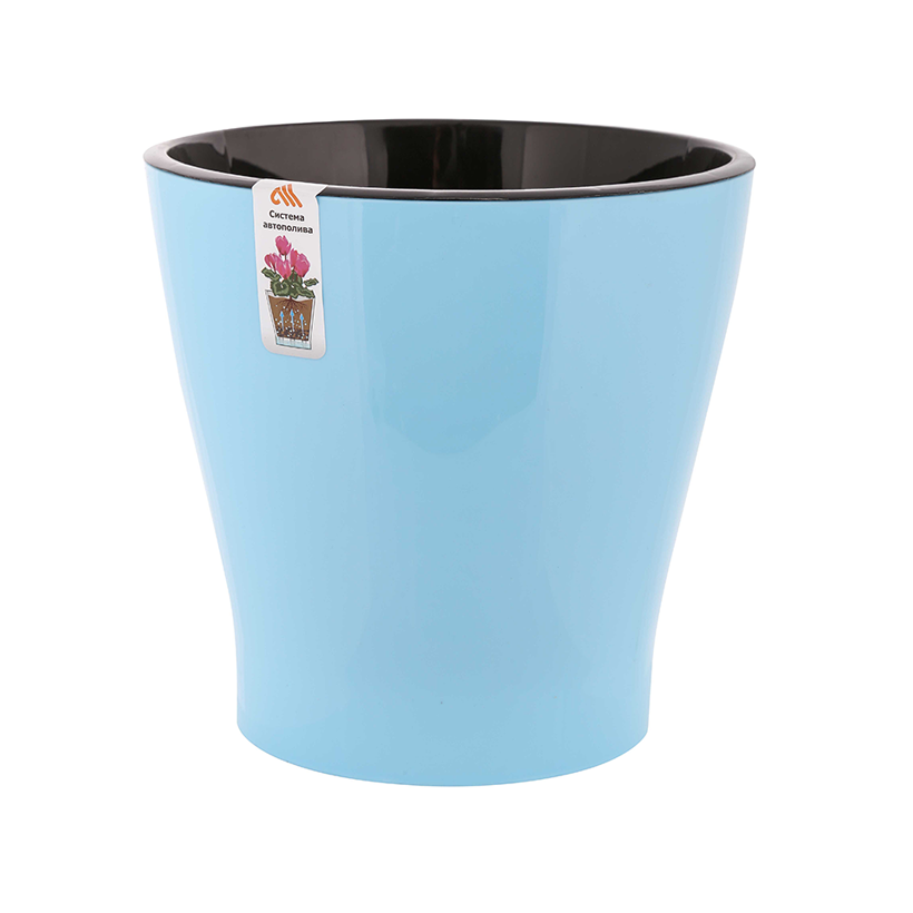 Flower pot with automatic watering