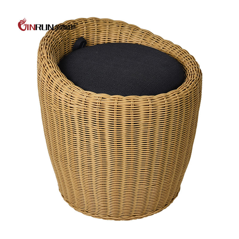 Medium Rattan Storage Stool