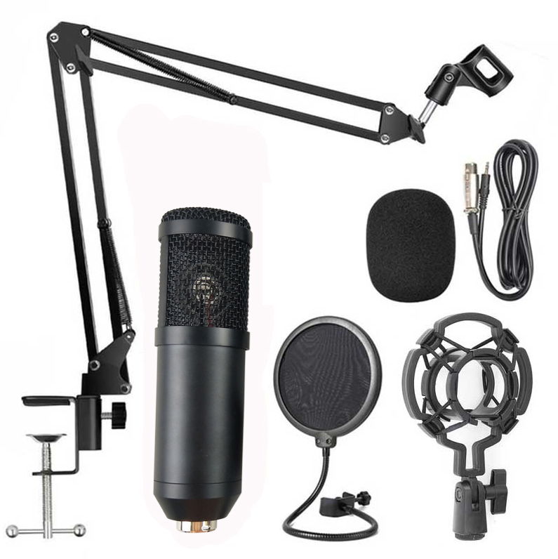 Usb Microphone Condenser Professional for live broadcast Unidirectional bm800 condenser microphone kit studio