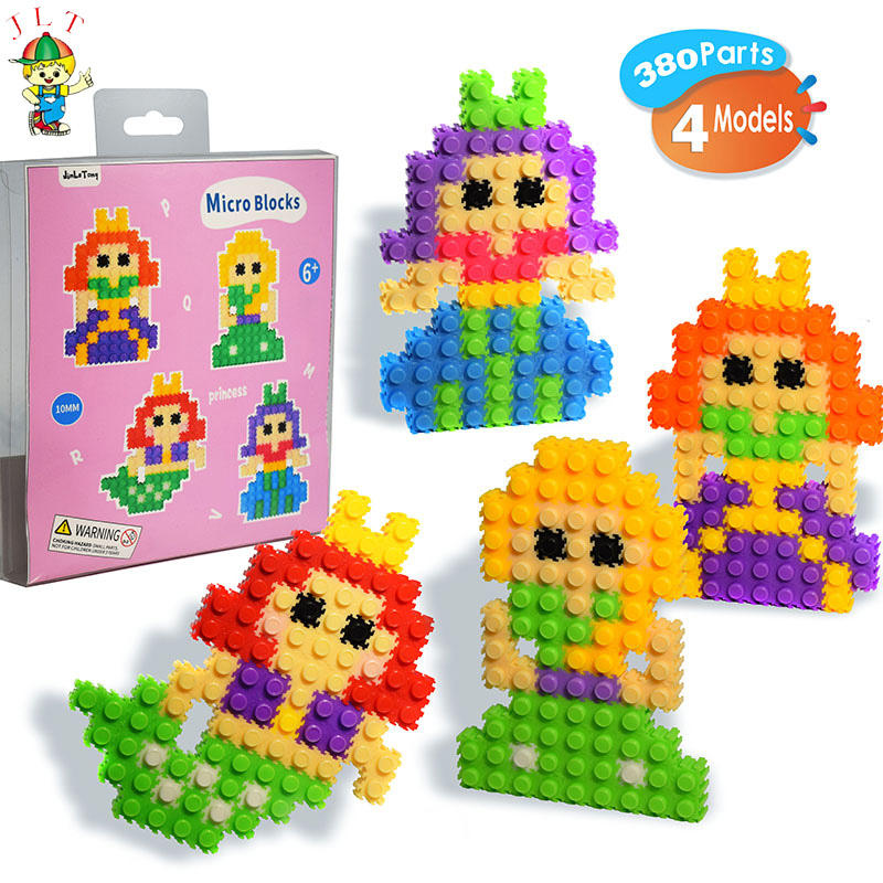 Cartoon Mini Building Blocks Children's Cartoon Doll Assembly Diy Toys Micro Blocks