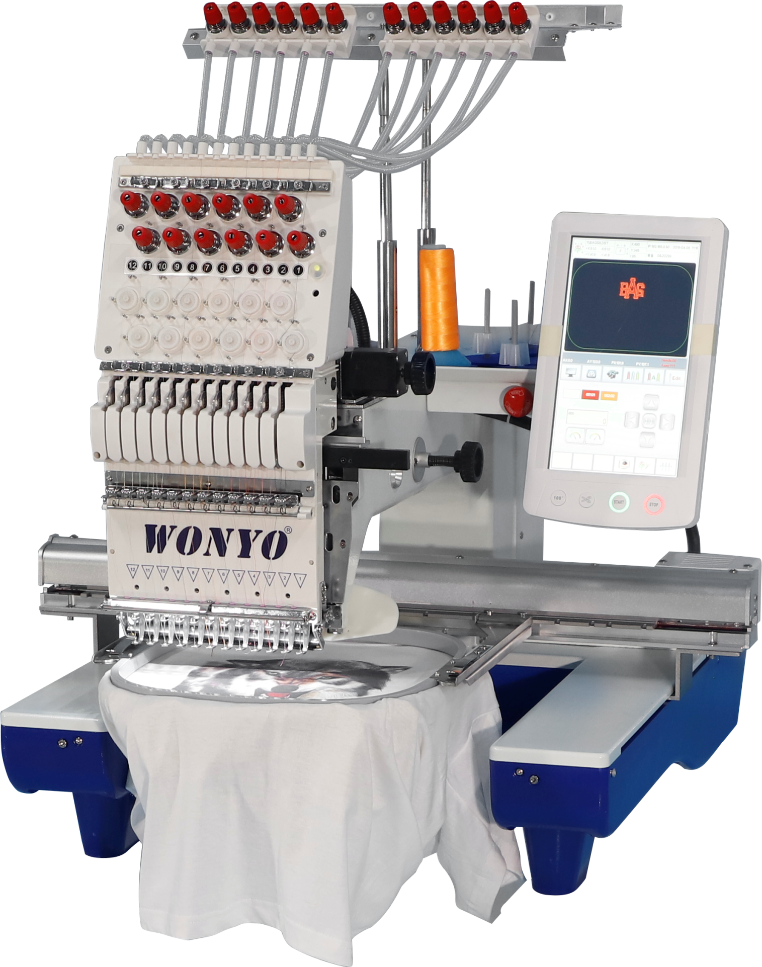 WONYO 1 head embroidery machine with software