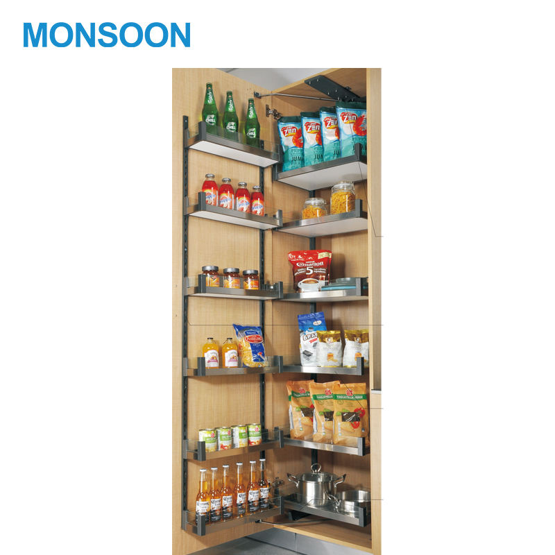MONSOON Functional Kitchen Tall Unit Pantry Organizer Soft Close Tandem Storage Basket