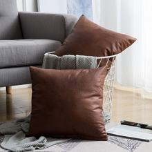High quality luxury cushion cover faux leather throw pillow cover for sofa chair