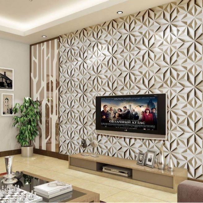 Super Fleksibel Kulit Ukir Lembut 3D/4D Panel Dinding Wallpaper dari Produsen China