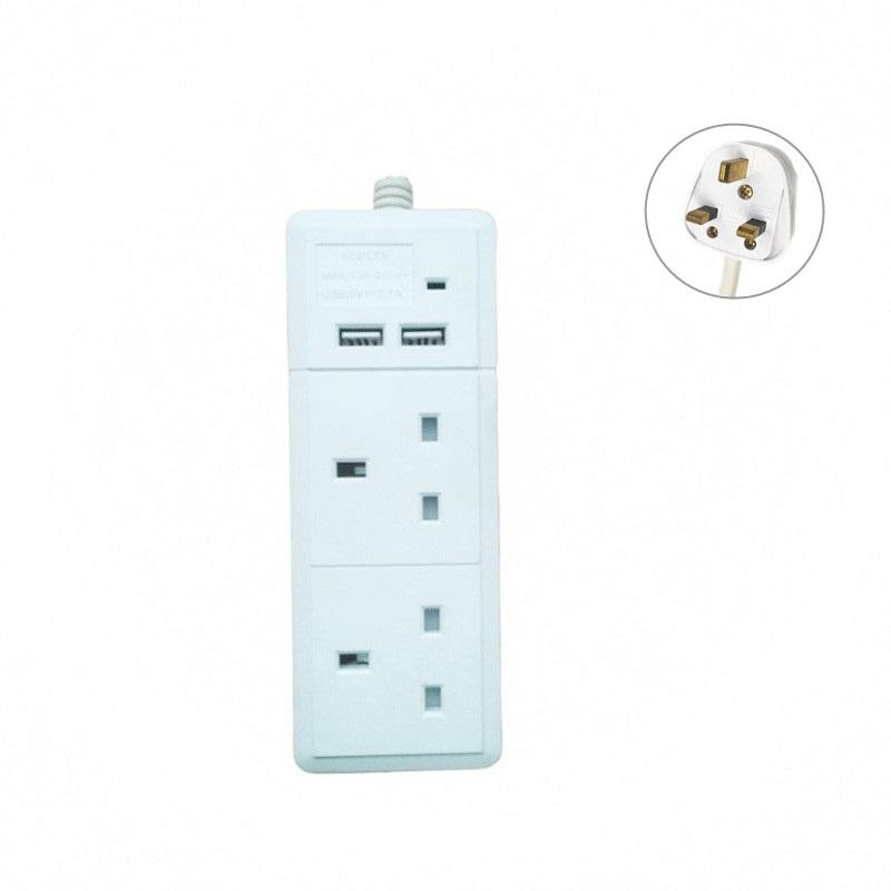 Thuisgebruik Adapter Usb Bs Uk Outlet Gcc Goedgekeurd Gmark Abs/Pc Materiaal Multi Extension Socket
