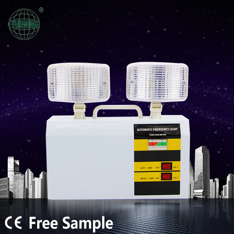 Customizable Fire Rechargeable LED Twin Spot Emergency Lights Lighting for Elevator/Factory/Market/Stairs