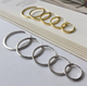 Hot Selling Simple Design 925 Sterling Silver Jewelry Ladies Popular 18k Gold Plated Hoop Earrings for Women