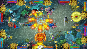 Mobile Device Online Fish and Slot App Game