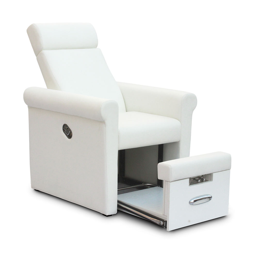 Cheap Price White Modern Beauty Nail Salon Furniture Reclining Portable No Plumbing Foot Spa Manicure Pedicure Chair