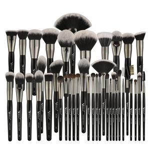 BEILI Amazon Professional Black Luxury Makeup Brush Set Kit Wholesale Price Wood Handle Accept Private Label Cosmetic brush