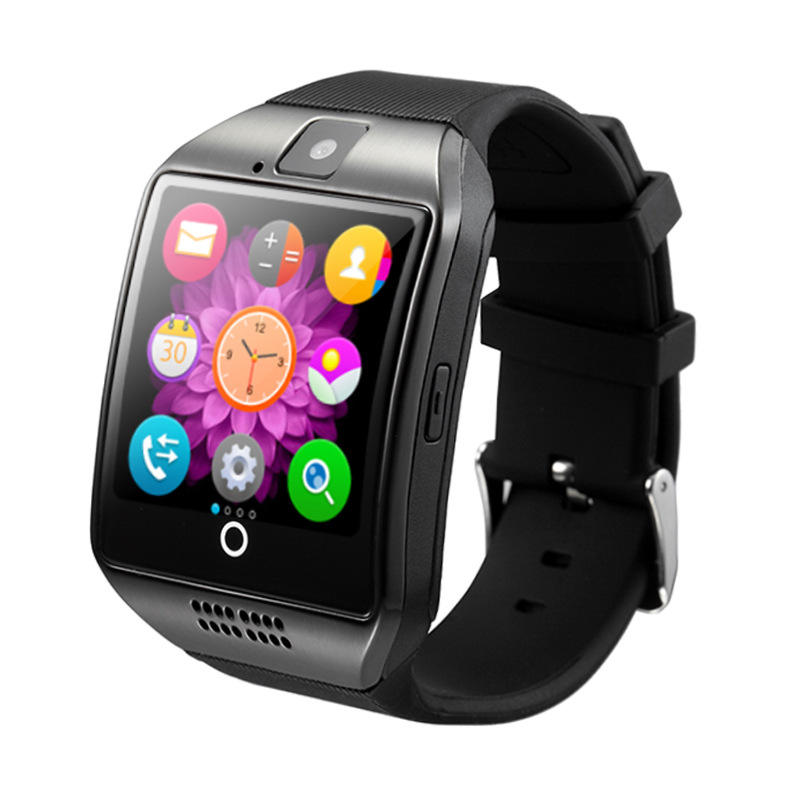 En gros Montre Intelligente avec Caméra Bluetooth Montre-Bracelet Carte SIM Support Multi-langue pour Android Iphone Q18