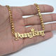 18K Gold Mens Hiphop Name Custom Necklace Personalized With Cuban Link Chain