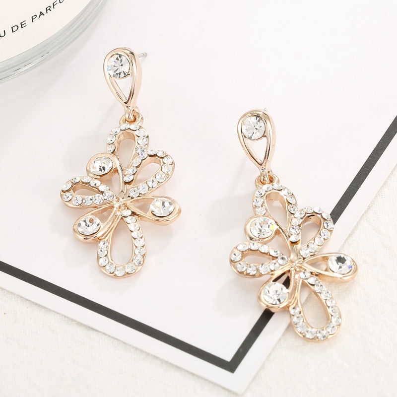 classical women gold accessories drop earrings jewelry shiny earring