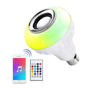 E27 Wireless Blue-tooth Lautsprecher RGB Farbwechsel Smart Musik Led-lampe mit Fernbedienung für Party Home Halloween weihnachten