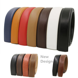 LQbelt Factory Genuine Leather Automatic Buckle Belt Strap wholesale belts for men stock no buckle OEM Custom Belts
