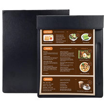 High Quality PU Faux Leather Magnetic Profile Custom Clip Boards