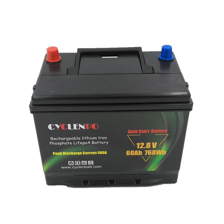 Lifepo4 auto start 12v 60ah lithium ion automotive car batteries