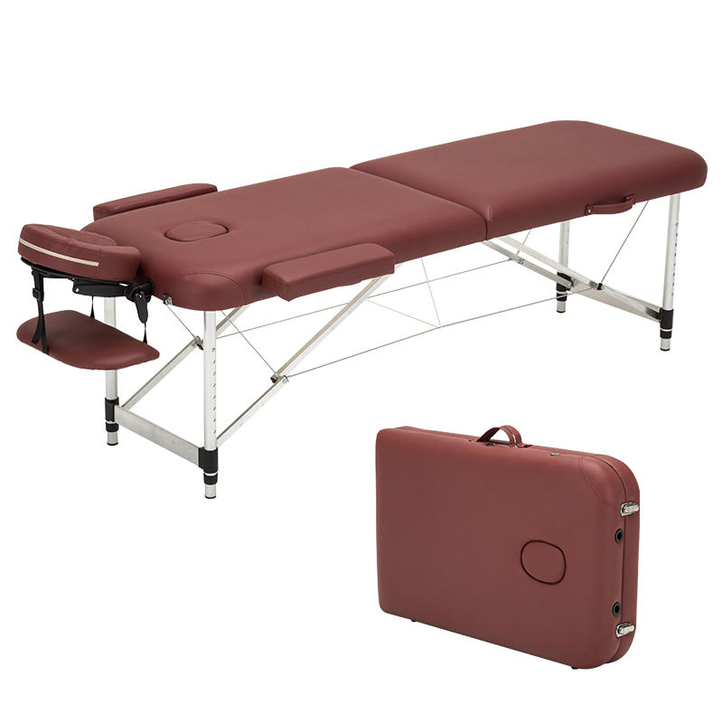 Hot sale Portable collapsible tattoo beauty massage bed spa Folding moxibustion bed massage table