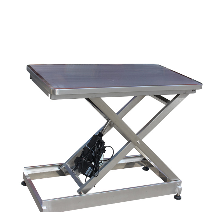 Meditech 304 stainless steel flat lifting table for pet clinic use