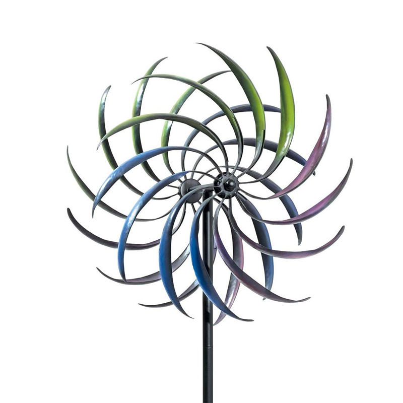 Hanssz 3D Stainless Steel Spiral Mini Wholesale Garden Decor Wind Spinner