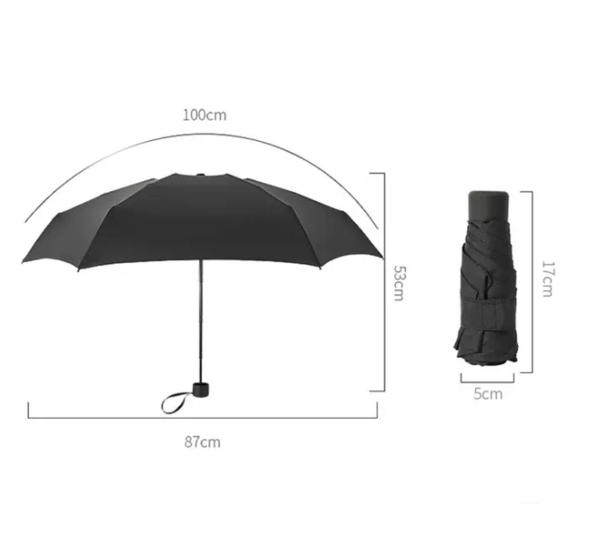 Folding Inside Out Mini Cute sun Capsule Umbrella