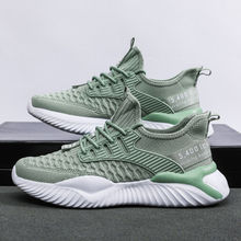 2020 Fashion New Designs Excellent European Style Fly Knitted Mesh Sports Shoes For Men