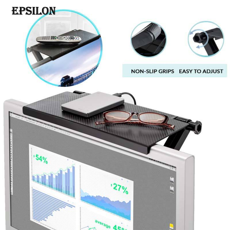 Epsilon Tv Computer Scherm Top Plank Organisator Desktop Holder Stand Magic Screen Caddy Abs Tv Display Plank Thuis Opbergrek