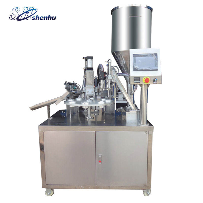 semi automatic plastic tube packaging filling sealing machine