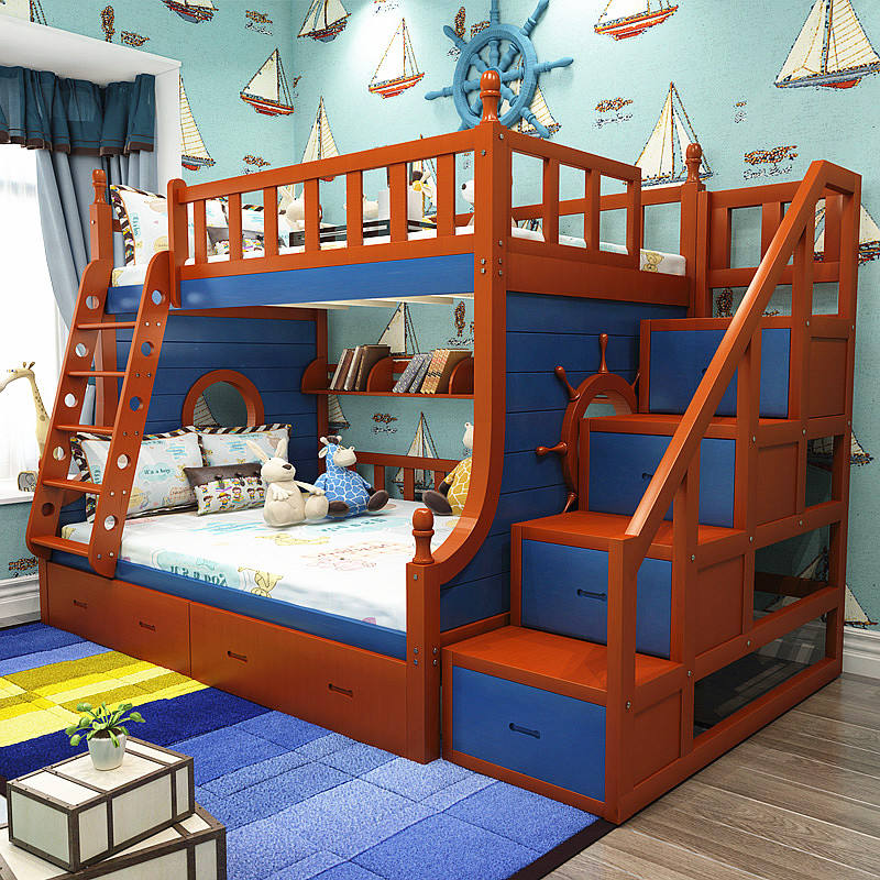 Stairs Table Adult 140x190cm Customized Foldable Ladder Barrier Girl Bunk Bed With Storage And Slide For Kids