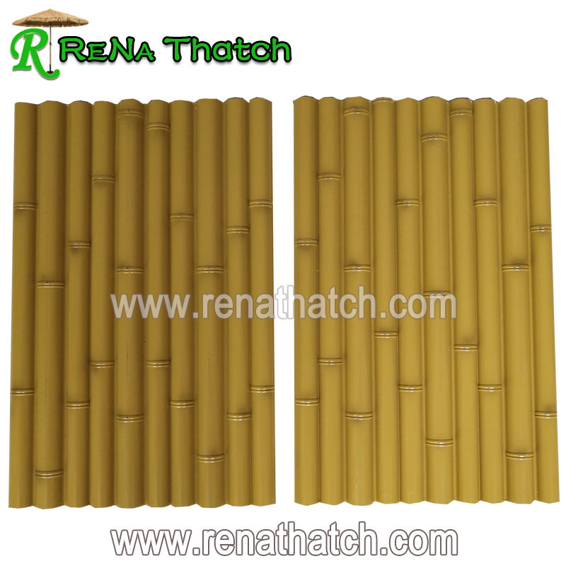 Outdoor plastic synthetic bamboo fence