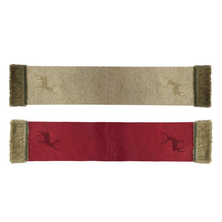 Fête de noël imprimé rennes laine décor de table napperon en feutre Tissu de Table À Manger