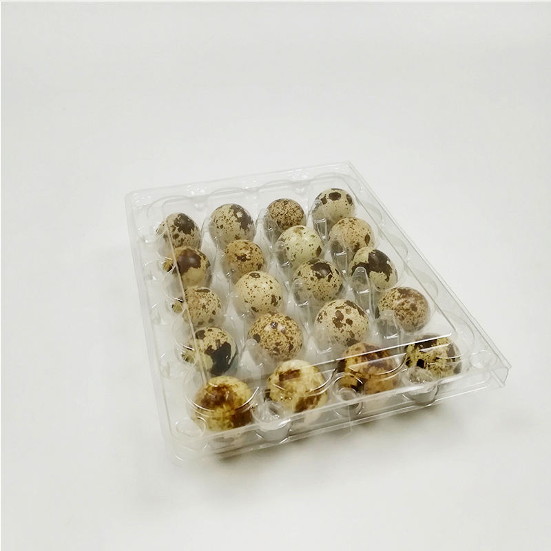 Factory Price Disposable Clamshell Blister Plastic PVC Quail Egg Trays