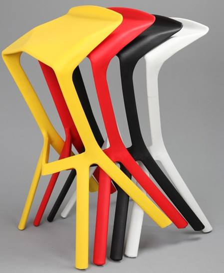 Bar stool chair plastic indoor and outdoor chair factory direct sale good quality