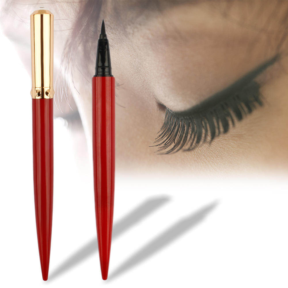 Beste Qualität No Label Langlebiger wasserdichter Bio-Eyeliner Custom Black Red Metal Eyeliner