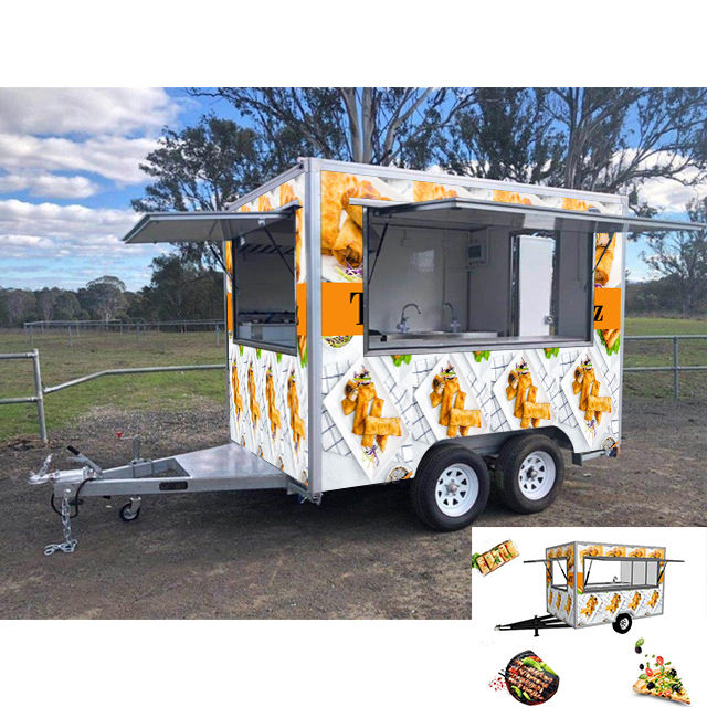 2020 Low Price dessert fruits ice cream vending trailer / fast food cart for sale