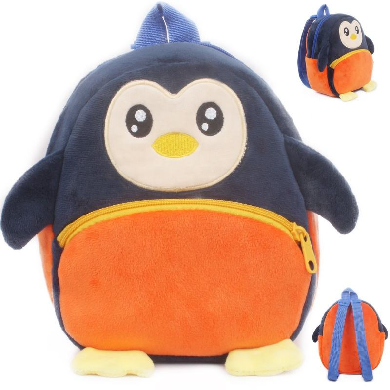 3D Zoo Animal Plush Kids Backpacks kindergarten Schoolbag Animal Kids Backpack Children School Bags