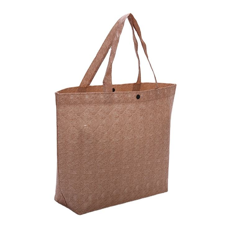 2020 new custom logo size non-woven fabric foldable ladies linen shopping tote bag