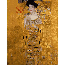 customized paint by numbers Klimt Adele Bloch for adults, diy digital oil painting by numbers