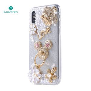 Crystal bling mobile cover rhinestone Luxury phone case for girls for iphone x 7 8