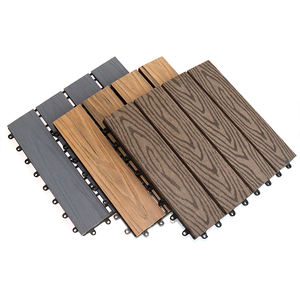 Waterproof weather resistant low maintenance landscaping balcony patio Wood grain effect Easy Click WPC tile Composite decking
