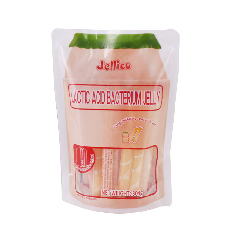 Customized stand up Bag with Clear Window for Food Packing /jelly packing Juice Bag Pouch Food Snack Package