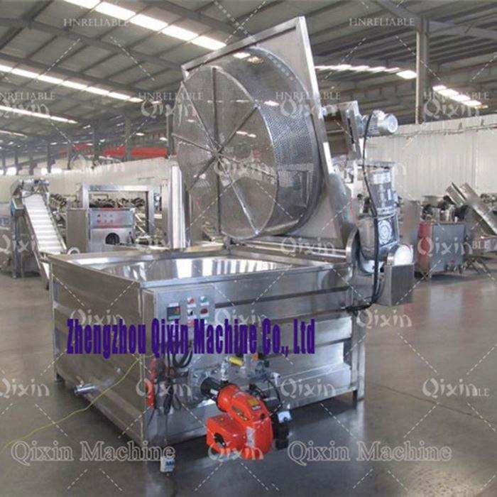 Automatic batch fryer machine / rice ball fryer machine / chips snack fryer for cooking machine