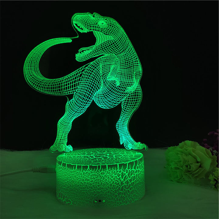 remote control rechargeable acrylic decor mini base 3d led night light with usb cable