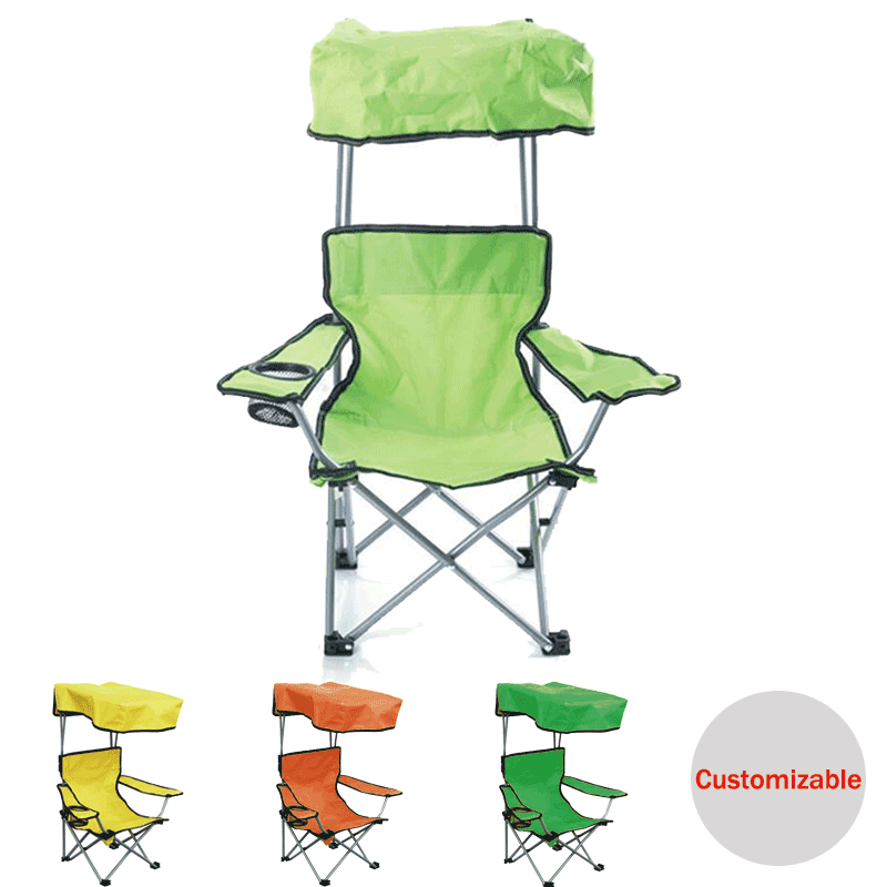 Outdoor fishing beach chair foldable canopy kids,Personalized customizable kids beach chair