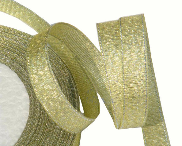 Gold Metallic Ribbon for Decoration