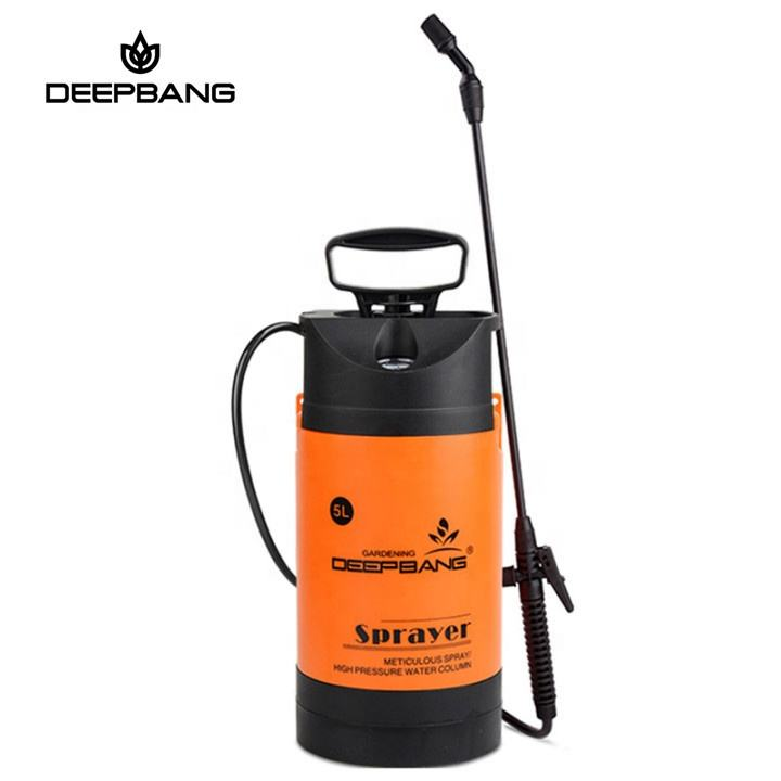 Deepbang 5 Liter High Pressure Hand Operated Power Spray Plastic Garden Pump Sprayer For Agricultural