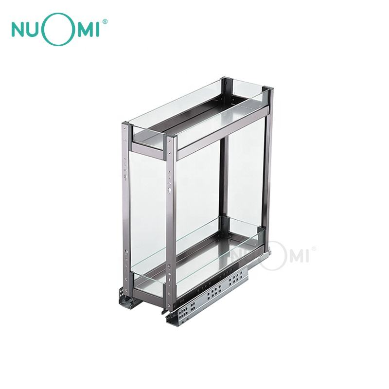 NUOMI Two Tiers Ultra Narrow Basket for Kitchen Storage PURPLE CRYSTAL series