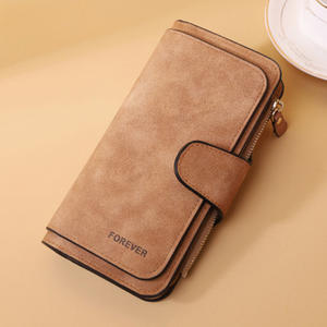 Guangzhou factory customized high-grade PU leather wallet woman