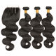 Cheap Brazilian Virgin Hair 100% Human Hair Natural Color 3 Bundles With Lace Closure Body Wave Bundles